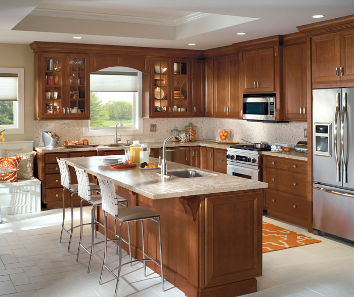 Traditinal Kitchen W_ Cherry Cabinets