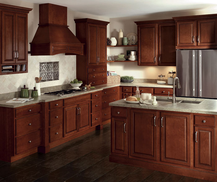 Glazed Cherry Cabinets