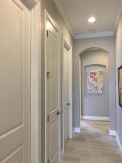 Painted Hallway Doors, Trim Walls