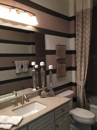 Bathroom Detailed Multi Color Painting