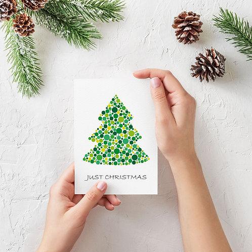 Julekort Just Christmas