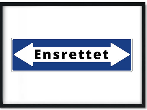 Plakat med en ensrettet pil i begge retninger