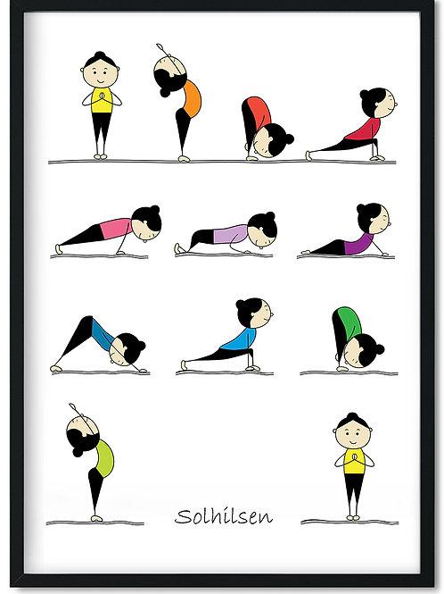 Solhilsen yoga plakat