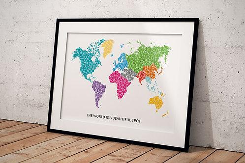 Plakat The world is a beautiful spot A3
