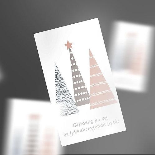 Gavemærker med pastel juletræer