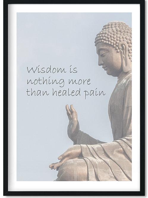 Wisdom citat plakat i ramme
