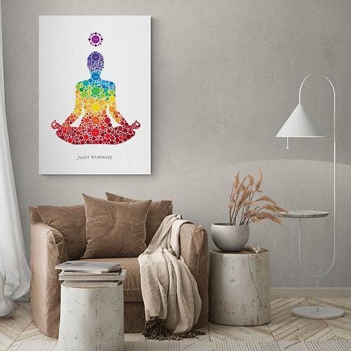 Chakra plakat - Just Energy 50 x 70 cm