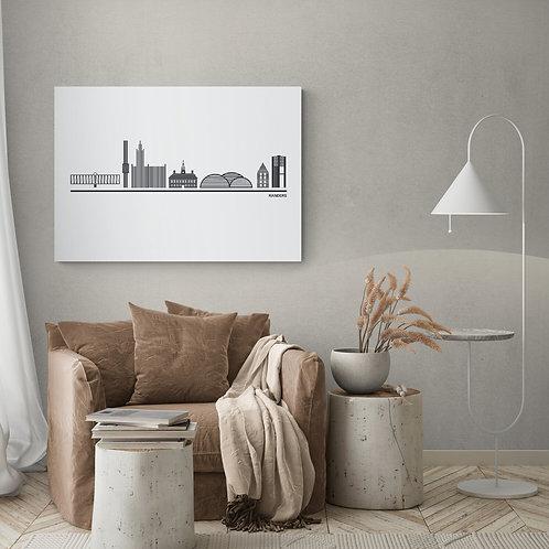Byplakat Randers i hvid 50 x 70 cm