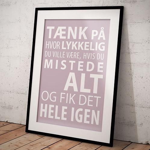 Plakat Tænk på....