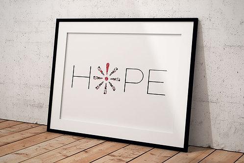 Plakat Hope A3 - Knæk cancer