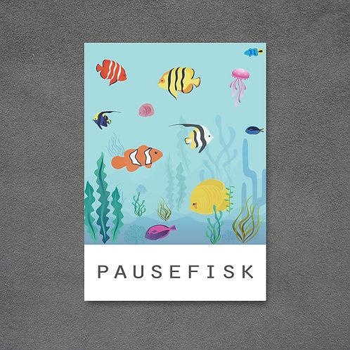 Postkort med pausefisk