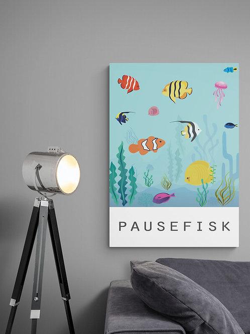 Plakat med pausefisk i gode farver