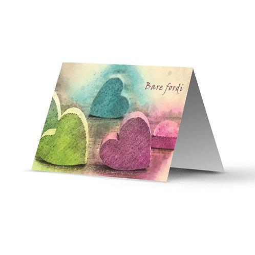 Billede af lykønskningskort med hjerter
