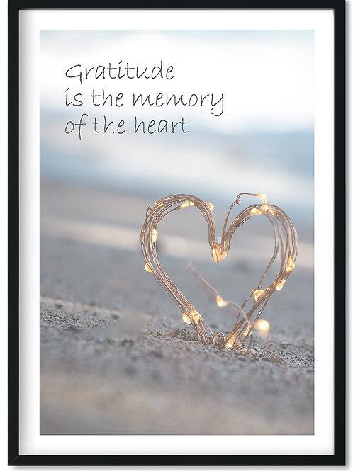 Gratitude citatplakat i ramme