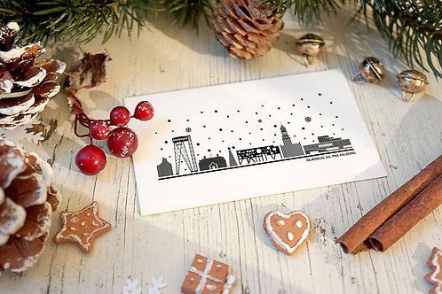Julekort med Aalborg