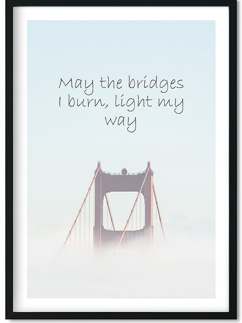 Bridge citatplakat i ramme