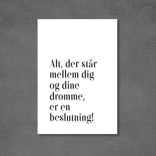 Postkort med citat