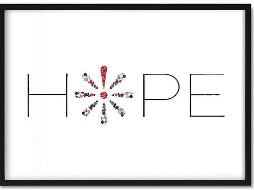 Knæk cancer plakat i ramme med ordet Hope
