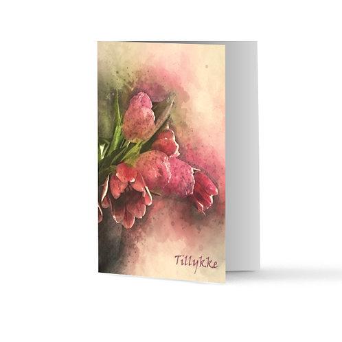 Billede af lykønskningskort med tulipaner