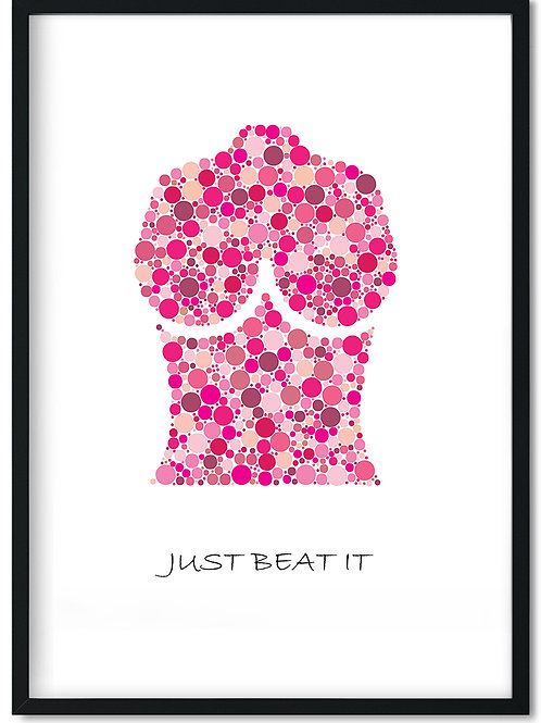 Citat plakat med teksten Just beat it