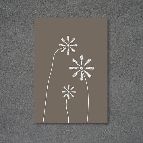 Postkort med Knæk cancer blomster