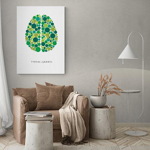 Think Green plakat 50 x 70 cm