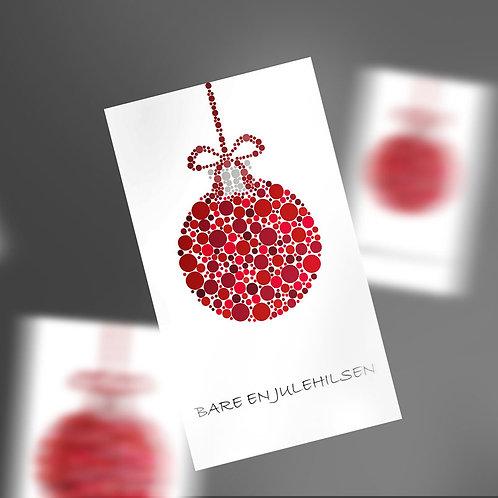 Gavemærker med rød julekugle