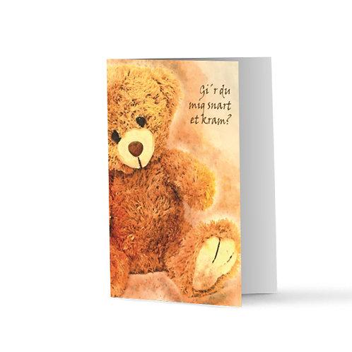 Billede af lykønskningskort med bamse