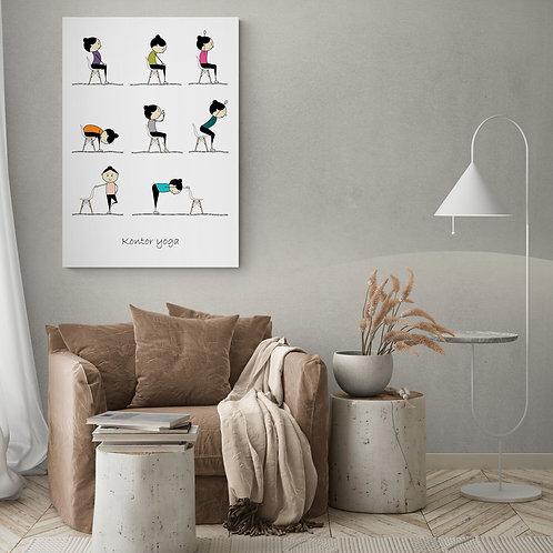 Yoga plakat med kontor yoga - 50 x 70 cm
