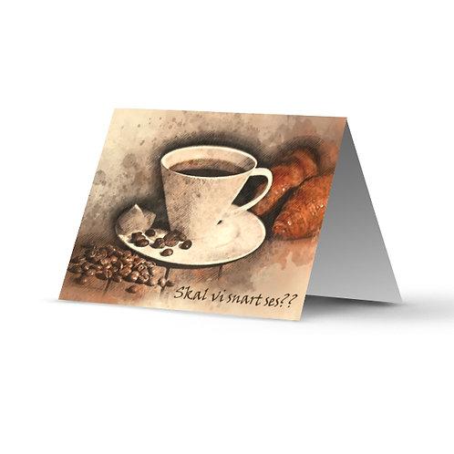 Billede af lykønskningskort med kaffekop