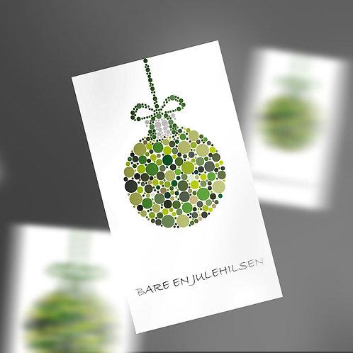Gavemærker med grøn julekugle