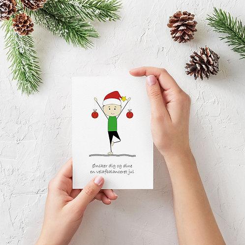 Yoga julekort med hilsen