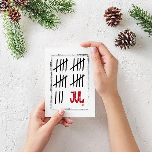 Julekort 123 jul