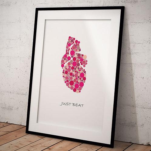 Organ Plakat Just Beat A3, Pink