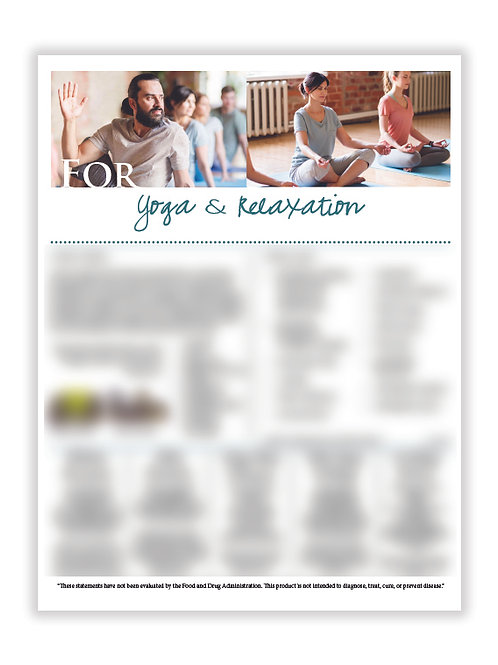 AUS Yoga & Relaxation (8.5X11 size)