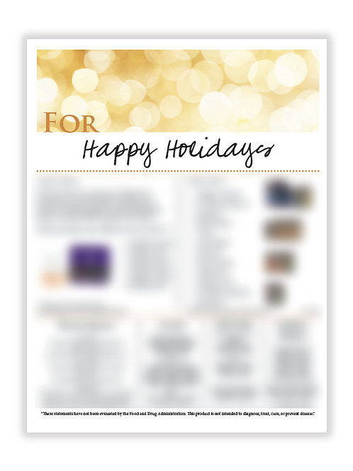 US Happy Holidays w/Matching Invite & New Oils (8.5X11 size)