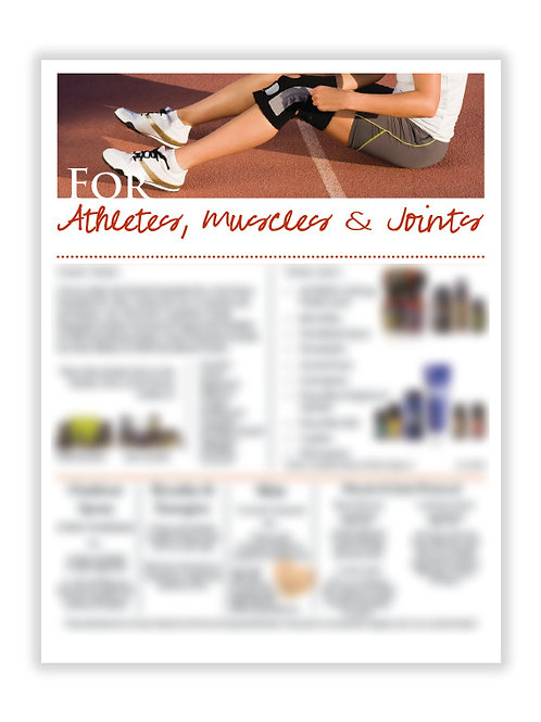 US Athletes, Muscles & Joints (8.5X11 size)