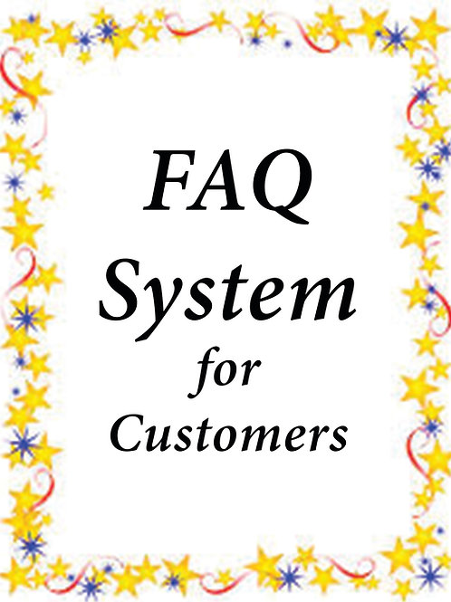 FAQ System for Customers