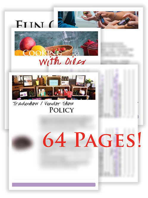 US Tradeshow/Vendor Package (does not include recipe make & take pages)