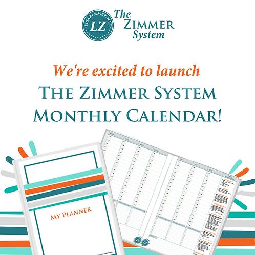 Zimmer System Calendar