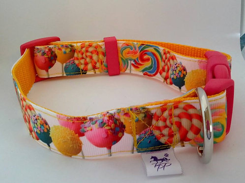 Sweet candy adjustable webbing dog collars