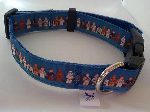Blue Star Wars adjustable dog collar