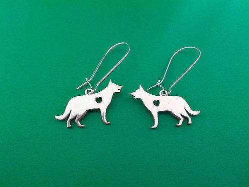 Kelpie silver charm earrings