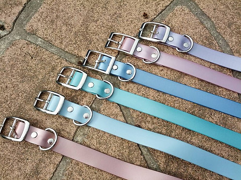 Shimmer waterproof pvc dog collars