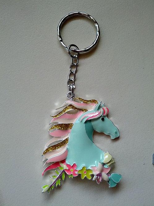 Stunning enamel unicorn keyrings