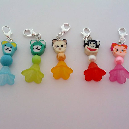 Animal buddy charms