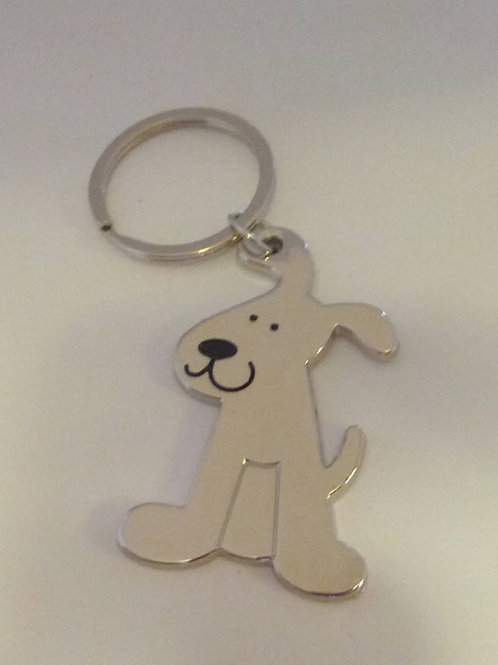 Silver dog keyrings