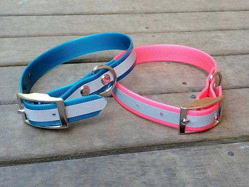 Medium size reflective pvc dog collars