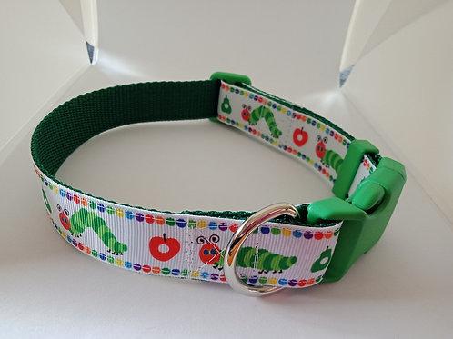 Hungry caterpillar adjustable dog collar