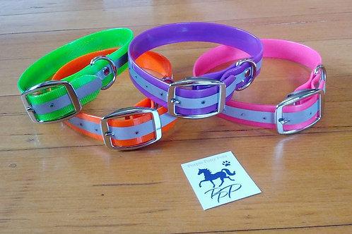 Relective PVC dog collars